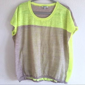 Madewell Neon Colorblock Knit Top